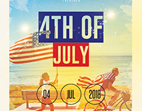 4th of July - Free PSD Flyer / Poster Template