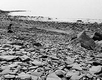 artist on a beach