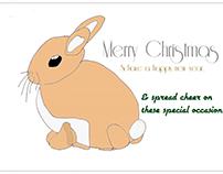 Christmas card single page