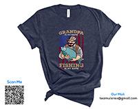 Fishing T-Shirt Design Bundle Free