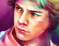 Harry Styles Portrait  Digital Painting