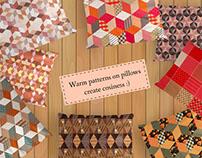Warm patchwork patterns