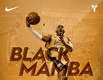 """Poster Kobe """"BLACK MAMBA"""" Bryant."""