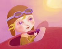 Amelia Earhart niña