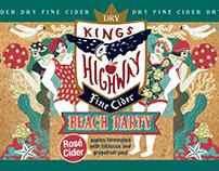 Kings Highway cider package illustration