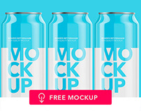 Free Mockup - Can of soda and beer.