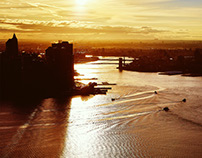 New York Morning Golden Hour from Helicopter