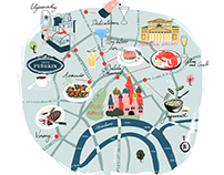 Moscow Illustrated Map