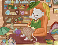 Penny the Hoarder children's book illustration