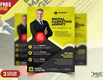 Stylish Corporate Flyer Design PSD Template