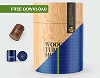 Free PSD-mockups | Wooden&Paper Tubes
