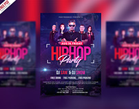 Free PSD : HipHop Party Invitation Flyer PSD Template