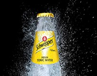 Schweppes, Bottle without glas. Layout.