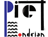 "POSTER ""Hommage a Piet Mondrian"""