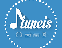 Tuneis mobil app logo work.