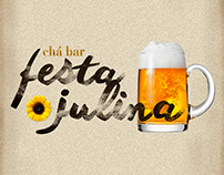 Convite Chá Bar - Festa Julina