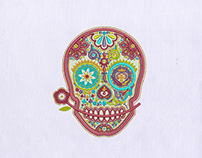 WACKY AND COLORFUL SKULL DIGITAL EMBROIDERY DESIGN