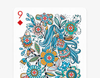 """9 ♦ Diamonds"" card for Playing Arts contest 2016"