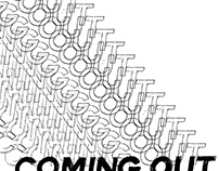 Coming Out Exhibition Visual ID
