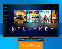 Cloud gaming service for Smart TV