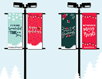 Holiday Banners - Quarry Square Shopping Center