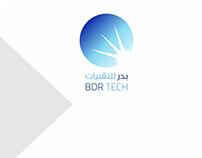 Badr Technologies logo and branding design
