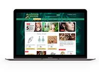 Сайт ювелирного магазина «Малахитовая шкатулка»