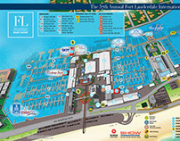 Illustrated Maps for a Boat Show in Fort Lauderdale