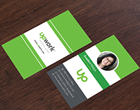 Business Card Design 2016 with UpWork