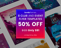 8 Club and Event Flyer Bundle