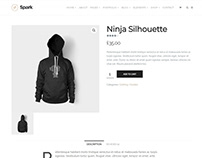 Spark WordPress Theme - Shop Product Page