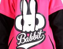 Bike rabbit 'BABBIT' emblem snowboard Tall-T design