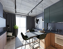 Interior design of small apartment in Kyiv, Ukraine