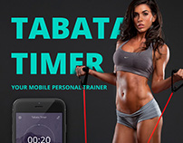 Tabata timer. Mobile app with prototype(UI/UX)