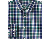 gap, menswear; plaid textile/woven shirting