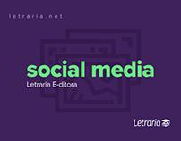 Social media | Letraria E-ditora