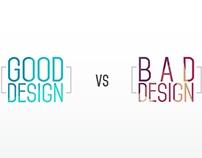 Good Design vs Bad Design