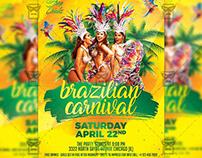 Brazilian Carnival Event Flyer - Seasonal A5 Template