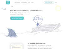 Landing page for Mental Health Service/App