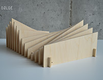Modular document and book organizer.
