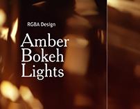 Bokeh Lights Amber Backgrounds