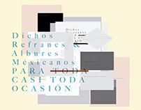 DICHOS, REFRANES & ALBURES MEXICANOS PARA TODA OCASIÓN