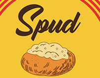 Spud Hut logo, trailer, motion