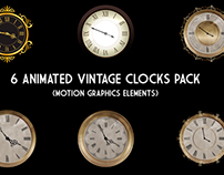 6 Animated Vintage Clocks Pack