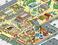 Colorado's State Fair Map Illustration