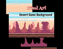 Pixel Art- Desert Game Background
