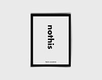 nothis - book design