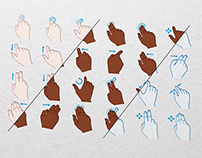 Hand-Drawn Gesture Icons