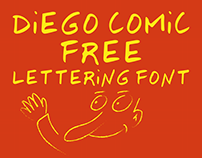 Free lettering font diego comic