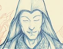 Tsongkhapa Sketch